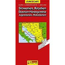 RV Euro-Länderkarte 1:800 000 Slowenien, Kroatien, Bosnien-Herzegowina, Jugoslawien, Makedonien