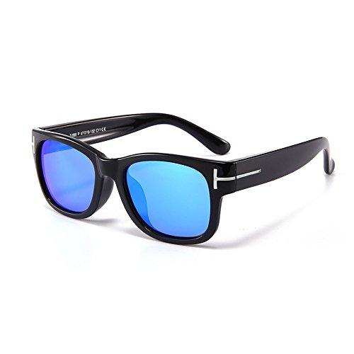 Yiph-Sunglass Sonnenbrillen Mode Stilvolle Silica Gel Full Frame Kids Polarized Sonnenbrillen mit Box UV-Schutz für Jungen Mädchen im Alter von 3 bis 10 (Farbe : Schwarz)