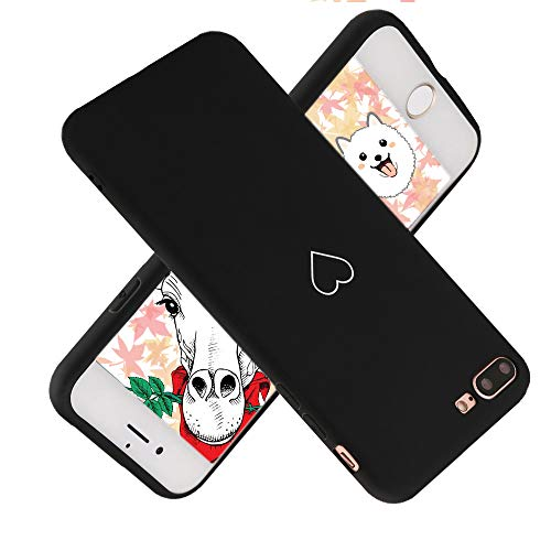 Für iPhone 7 Hülle iPhone 8 Girls Hülle Super süße Liebe-HerzFürm Weiche TPU-Silikonhülle Anti-Scratch Stoßfest Hintere Stoßfängerschale Hülle Cover für iPhone ()
