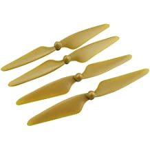 Sharplace 2 Pares Helix CW CCW Piezas de Recambio Portátiles para Hubsan H501S RC Drone Quadcopter - Oro