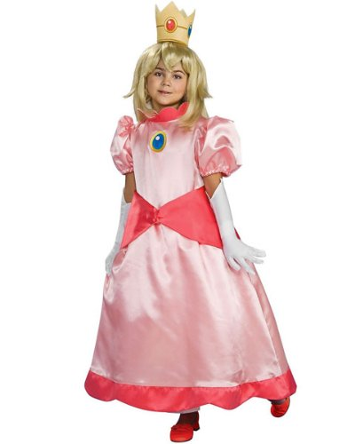 (Rubies Costume Co R883658-L M-dchen Deluxe Super Mario Prinzessin Peach Kost-m Gr--e Large)