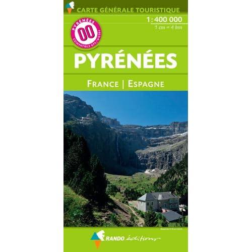 00 PYRENEES FRANCE/ESPAGNE - 1/400.000