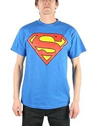 Superman - Logo classique Adulte / hommes T-shirt en bleu royal (TL259)