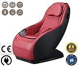 GURU Poltrona massaggiante Shiatsu 2D - Rosso (modello 2019) - Poltrona relax con 3 programmi di massaggio – Sedia massaggiante con sistema Bluetooth e USB - 2 Anni di Garanzia GLOBAL RELAX Italia