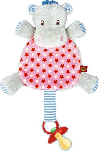Preisvergleich Produktbild Spiegelburg Serie Baby Glück Hipp, hipp, hippo! Nilpferd (Schnullertuch Hippo rosa)