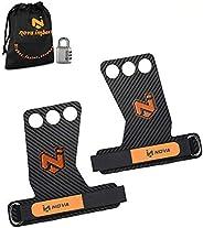 Nova imboxs Calleras para Crossfit - Grips 3H Fibra de Carbono - Guantes para Cross Training Agarre y Protecto