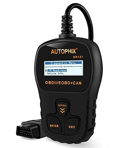 Autophix OM121 OBD2 Code Reader Car Vehicle Diagnostic Tool CAN