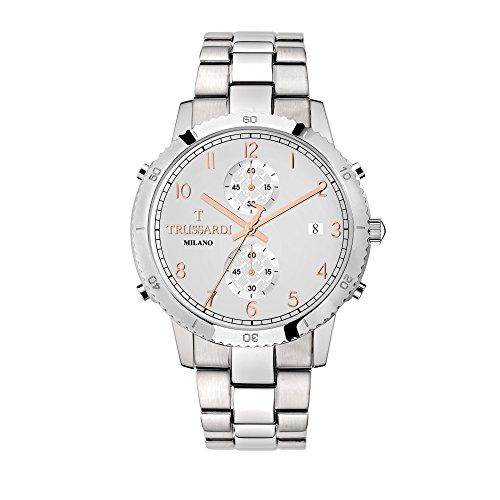 TRUSSARDI Orologio Cronografo Quarzo Uomo con Cinturino in Acciaio Inox R2473617005