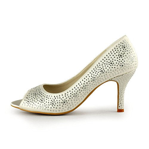 Minitoo , Sandales pour femme Ivory-8cm Heel