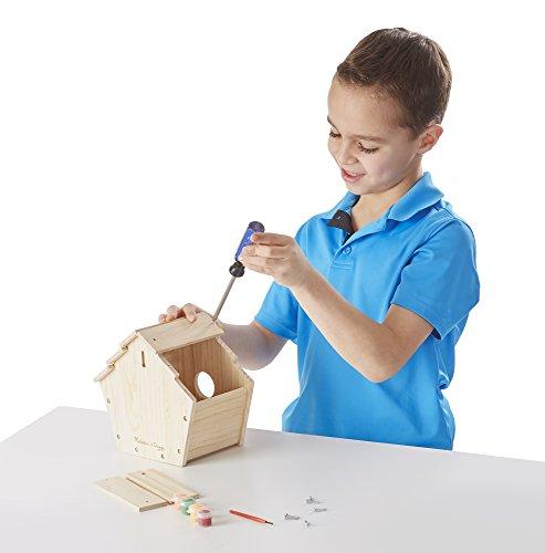 Melissa & Doug Build-Your-Own Wooden Birdhouse Craft Kit