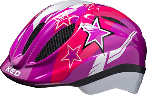 KED Meggy Helmet Kids Violet Stars Kopfumfang M | 52-58cm 2019 Fahrradhelm