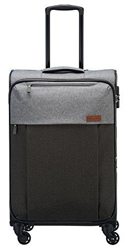 Travelite Leichtes lässiges  Surferlook Trolley Koffer 55 cm, 32 L, Anthrazit/Grau