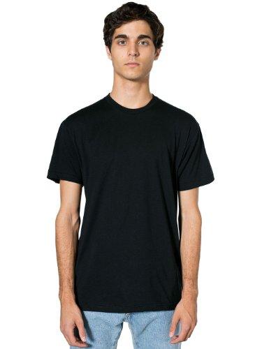 American Apparel  Poly-Cotton Short Sleeve Crew Neck, Black, X-Large