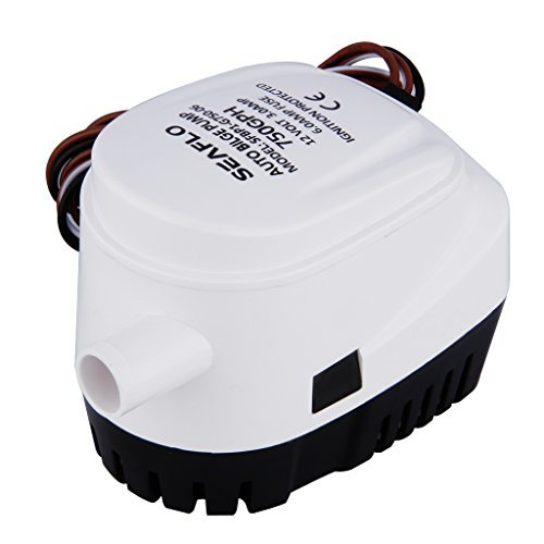 Neue 12V 750GPH Automatische Bilgenpumpe, Vollautomatische elektrische Tauchpumpe 3A mit eingebautem Schwimmerschalter System, kein separater Schwimmerschalter erforderlich -