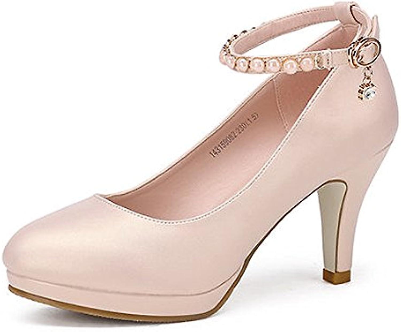 XUERUI Printemps nouvelle bouche peu profonde ronde chaussures unique chaussures ronde femmes ensembles noirs de pieds chaussures...B07CCLY6HTParent 342149