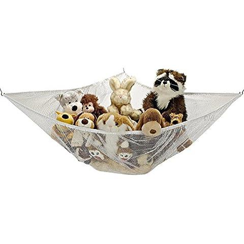 Jumbo Toy Hammock Net Organizer for decorating or storing Stuffed Animals etc. by Handy Laundry [Quality EU Brand]