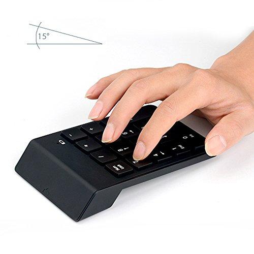 Numeric Keypad, Skitic Mini Nummernblock 2.4G USB Ziffernblock Tragbare Wireless 18 Tasten Numerische Tastatur Anzahl Externer Tastatur-Pad für iMac Macbook Windows-Laptop Notebook PC - Schwarz (Zahl-tastatur-tastatur-pad Numerische)