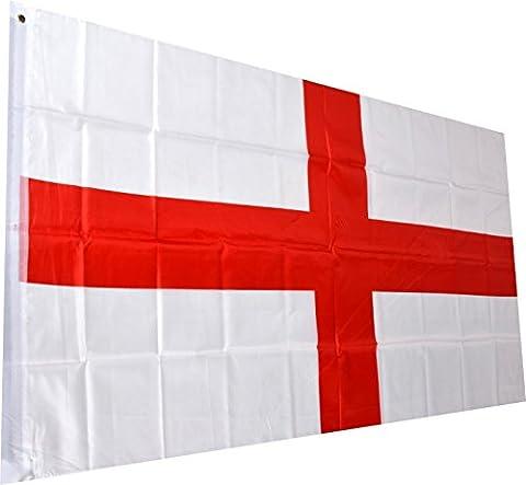 England Fahne englische National Flagge St. George Cross Flag 150 x 90 cm mit Schlaufe und Öse (George Englische Flagge)