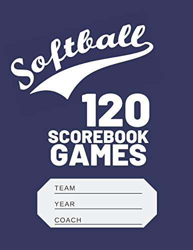 Softball Scorebook: Softball Scorekeeper Baseball Scorebook Journal Log Book -