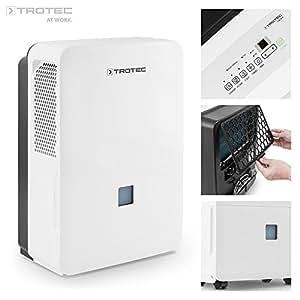 TROTEC TTK 127 E Déshumidificateur d'air/Electrique/Portable - Absorbeur d'humidité - Déshumidification max. 50 l/j, pour 150 m² max., Hygrostat intégré