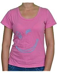 FICUSTER Women's Pink Top - MEDIUM