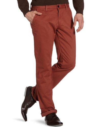 Selected - Pantaloni chino, uomo, Marrone (Braun (Mahogany)), 44 IT (30W/32L)