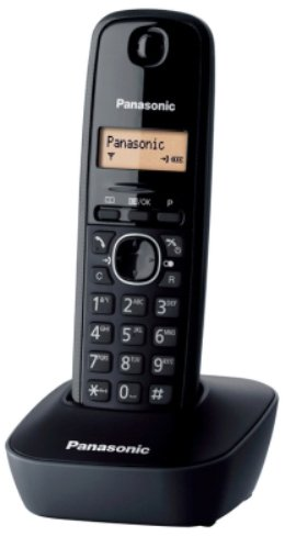 Panasonic KX-TG1611SPH - Teléfono fijo inalámbrico digital, negro
