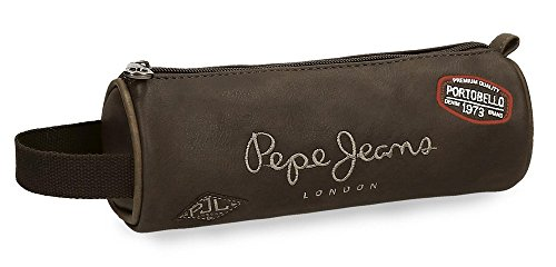 Pepe Jeans Duetone Neceser de Viaje, 23 cm, 1.86 litros, Marrón