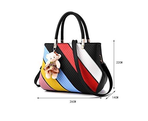 Baymate Mode Tasche Damen Handtasche Bunt Stil Kunstleder Schultertasche Stil 3