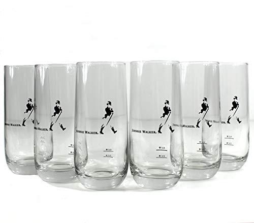 *Johnnie Walker Gläser 6er Set Whisky-Glas mit Eichung ~mn 1013 1133*