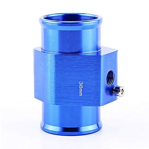 Keenso - Adaptador universal de manguito para sensor de temperatura de agua de radiador, aluminio, azul, 26 mm – 40 mm