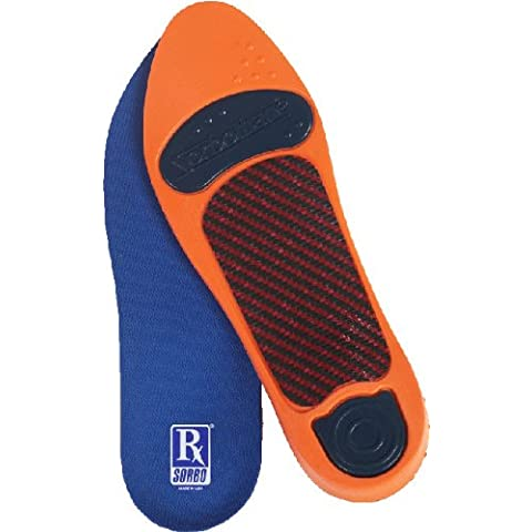 RX Sorbo Ultra plantare medio arco plantare Blue, Orange, Navy Blue Women's 8.5-9.5, Men's 9-10 (Metric 42-44) - E