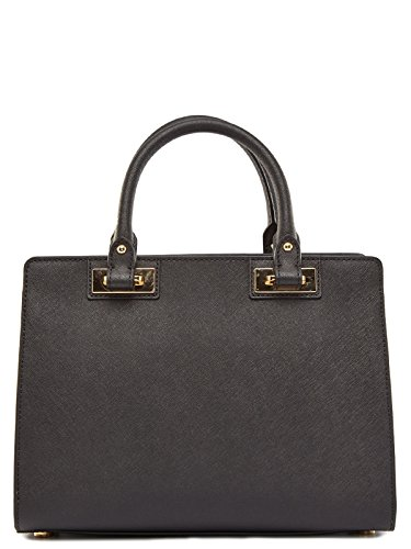 Michael Kors Quinn Medium Satchel in pelle nero Black