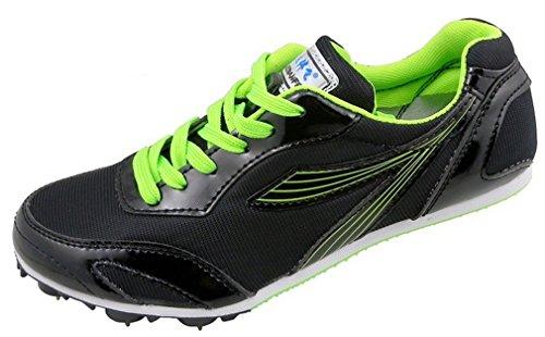 NEWZCERS Unisex Athletics sports chaussures running pointes Noir