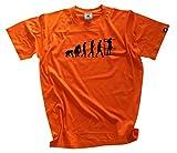 Shirtzshop Herren T-Shirt Gerüstbauer Rüstung Gerüst Baustelle Evolution, Orange, S, ss-shop-evo_geruest-t