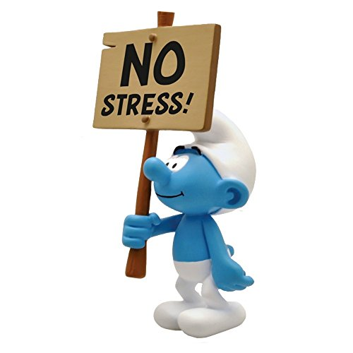 Plastoy® Figura de colección Pitufo con su cartel No Stress! 149 (20