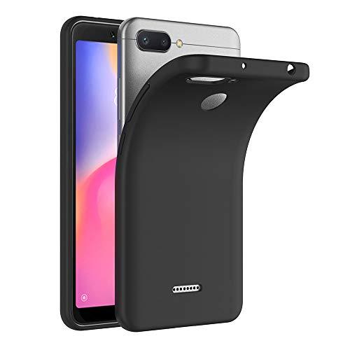 AICEK Xiaomi Redmi 6 Hülle, Schwarz Silikon Schutzhülle für Xiaomi Redmi 6 Case TPU Bumper Xiaomi Redmi 6 Handyhülle (5,45 Zoll)