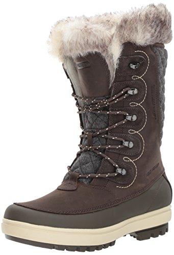 Helly Hansen Women's Garibaldi VL Lux Snow Boot, Coffee Bean/Espresso/Natural, 6 M US