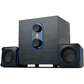 awesome computer speakers. sonaverse lbr 2.1 usb 2.0 stereo speaker system for pc computer laptop with powerful bass subwoofer and dual satellite speakers by gogroove - awesome