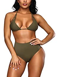 ... Tankinis   Verde. FeelinGirl Cruz Estilo Marino Dos Piezas Conjunto de  Bikini para Mujer 30f7210c9e94d