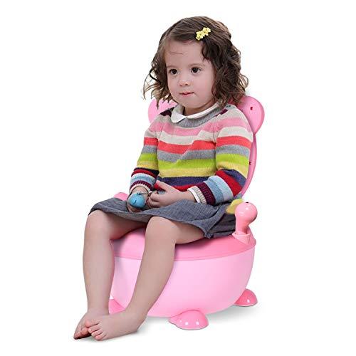 COSTWAY Töpfchen Kinder | Toilettensitz Baby | Kindertoilette 34x33x22cm | Toilettentrainer | Babytopf | Lerntöpfchen Farbwahl (rosa)