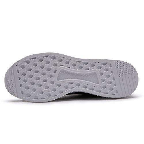 Maylen Hughes Uomo Scarpe da Ginnastica Corsa Sportive Running Sneakers Fitness Interior Casual all'Aperto Nero