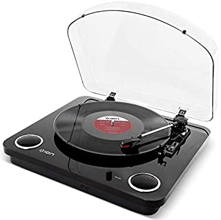 ION Audio Max LP - Vinyl Record Player / Turntable with Built In Speakers, USB Output for Conversion and Three Playback Speeds - Piano Black Finish (B01DPOXSOW) | Amazon price tracker / tracking, Amazon price history charts, Amazon price watches, Amazon price drop alerts