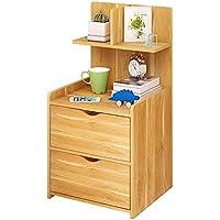 Preisvergleich für Holz Nachttisch Side End Table Mit Schubladen Multifunktions Abnehmbare Platzsparende Nachttisch/BüCherregal / Schrank, Mit Im Wohnzimmer, Schlafzimmer und Studie (36 * 30 * 75 cm).