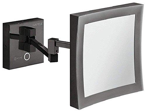 Gedotec Bad-Spiegel LED-Beleuchtung Kosmetikspiegel schwarz Badezimmer-Spiegel mit Lampe | inkl....