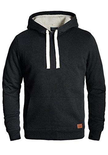 Blend Tedy Herren Winter Pullover Kapuzenpullover Hoodie Sweatshirt mit Teddy-Futter, Größe:M, Farbe:Black (70155) -