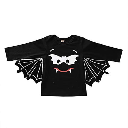 Ganzkörper Mickey Kostüm Mouse - Deloito Neugeborene Baby Kleidung Jungen Mädchen Karikatur Gedruckt Strampler Halloween Cosplay Kostüm Fledermaus Ärmel Bodysuit Romper Outfits (B,120/[3-4 Jahre])