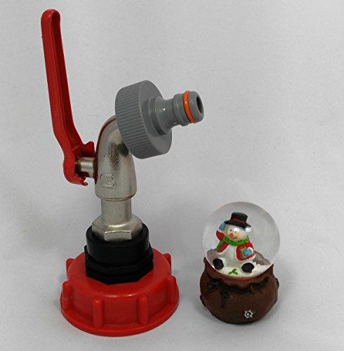 Noël CMTech AMS60 _ + 99 Bec avec leutender de Accessoires de conteneurs de boule IBC rapide Adaptateur Mamelon – Réservoir d'eau de pluie Bidon