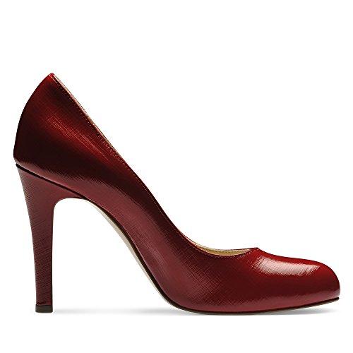 CRISTINA Damen Pumps Lack mit Prägung Rot