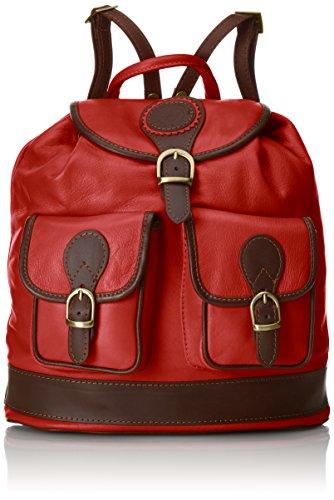 Chicca Borse, Sacs portés dos femme, Rouge (Rosso), 35 cm